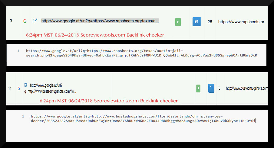 Black Hat SEO acquired by SQL string redirection.