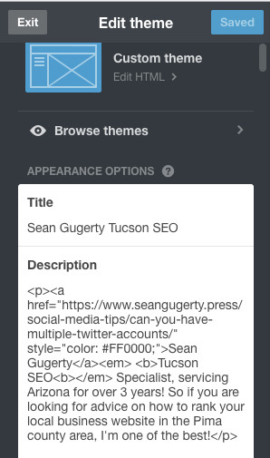 Get Backlinks From Tumblr Edit Appearance Profile Description