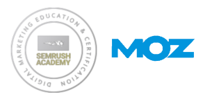 SEMRush MArketing Education and a MOZ Community Specialist